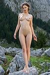 Beautiful nude girls posed in nature